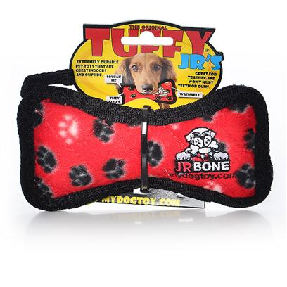 Tuffy's Presents Tuffy's Ultimates Bone-Red Paws Chew Toy Tuffys Bone Red. A Wonderful Toy for Those Dogs that Like to Play Tug or Whip their Toys Back and Forth. This Toy will Entertain One or Multiple Dogs for Hours! -- Soft Edges Won't Hurt Gums. Also Floats! [23856]