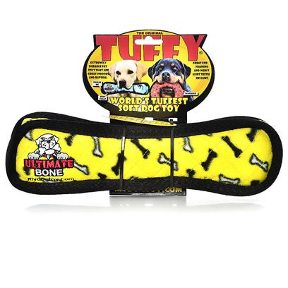 Tuffy's Presents Tuffy's Jr Bone-Yellow Bones Chew Toy Tuffys Bone Yellow. Jr Bone - a Wonderful Toy for Those Dogs that Like to Play Tug or Whip their Toys Back and Forth. -- Soft Edges Won't Hurt Gums. 6x 4x 1 [23859]