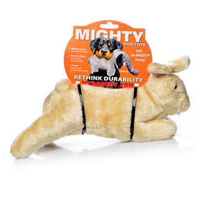 Tuffy's Presents Tuffy's Mighty Toy Nature-Bunny Mchop Brown Rabbit Chew to Tuffys Bunny. A Silky-Soft Paymate for the Lovable Pup who Needs a Bunny in his Life! [23864]