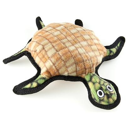 Tuffy's Presents Tuffy's Sea Creature Turtle Chew Toy Tuffys Burtle. Burtle Turtle- his Friends Call Him Burt, and this is One Guy your Dog will Want to be Friends With! Great as a Pillow and all Around Play Toy, your Dog will Enjoy Keeping Him Close at all Times. This Toy does not Squeak! Great for Interactive Play with One or Multiple Dogs. It can Even be Used in the Water. This Toy will Entertain Dogs who Like to Whip their Toys and Play Tug for Hours! -- Soft Edges Won't Hurt Gums. [23865]
