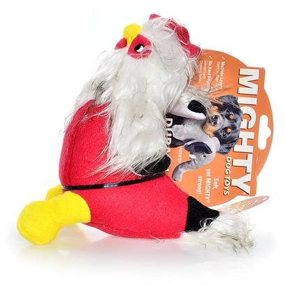 Tuffy's Presents Tuffy's Mighty Toy Farm-Clucky Mcchick Rooter Chew Tuffys Clucky. Have some Crazy Fun with this Wild, yet Surprisingly Strong Chicken! [23868]