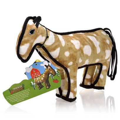 Tuffy's Presents Tuffy's Barn Yard Horse Chew Toy Tuffys. &quot;Howie&quot;- this Champion Thoroughbred may Enjoy Grass and Apples, but he also Enjoys a Good Romping with his Canine Pals! Howie is Always Willing to Go Up Against your Pooch on Race Day, and with his Strength it's Sure to be Neck and Neck Every Time! Your Pooch is Sure to be Pleased with this Fun and Adventurous Toy! For Interactive Play with One or Multiple Dogs. Howie does not Squeak! Easy to Toss and Floats! -- Soft Edges Won't Hurt Gums. [23883]