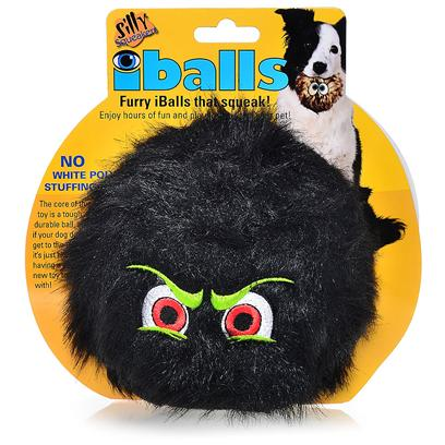 "Tuffy's Presents Tuffy's Silly Squeakers-Iballs Black Medium Chew Toy Tuffys Iballs Large. The Core of this Toy is a Tough, Durable Ball, so if your Dog does Get to the Core, it's just Like Having a Whole New Toy to Play With! No White Poly Stuffing. This Toy is 4""X 4"" in Size. Your Pooch will Absolutely Love his or her Own Set of Furry Iballstm! Silly Squeakers are a Line of Fun, Creative and Hiliarious Rubber Squeaky Toys that are Sure to have Everyone Talking. We Pushed the Limits of our Imagination to Bring you this Series of One-of-a-Kind Toys. They are Sure to Bring you and your Dog Tons of Fun and Laughter! Silly Squeakers are Made from the Highest Quality Materials to Ensure your Dog's Safety. Never Leave a Toy with your Dog Unattended. Dog Toys are Designed for Interactive Play and are not Meant to be Chewed or Ingested by any Animal. Failure to Follow these Instructions can Result in Injury to your Pet. [23885]"