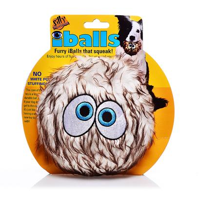 Tuffy's Presents Tuffy's Silly Squeakers-Iballs Brown Medium Chew Toy Tuffys Iballs. The Core of this Toy is a Tough, Durable Ball, so if your Dog does Get to the Core, it's just Like Having a Whole New Toy to Play With! No White Poly Stuffing. This Toy is 4&quot;X 4&quot; in Size. Your Pooch will Absolutely Love his or her Own Set of Furry Iballstm! Silly Squeakers are a Line of Fun, Creative and Hiliarious Rubber Squeaky Toys that are Sure to have Everyone Talking. We Pushed the Limits of our Imagination to Bring you this Series of One-of-a-Kind Toys. They are Sure to Bring you and your Dog Tons of Fun and Laughter! Silly Squeakers are Made from the Highest Quality Materials to Ensure your Dog's Safety. Never Leave a Toy with your Dog Unattended. Dog Toys are Designed for Interactive Play and are not Meant to be Chewed or Ingested by any Animal. Failure to Follow these Instructions can Result in Injury to your Pet. [23886]