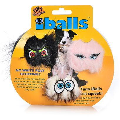 Tuffy's Presents Tuffy's Silly Squeakers-Iballs Black Brown Pink Small 3 Pac Tuffys Iballs Asst 3pk. The Core of this Toy is a Tough, Durable Ball, so if your Dog does Get to the Core, it's just Like Having a Whole New Toy to Play With! No White Poly Stuffing. This Toy is 2&quot;X 2&quot; in Size. Your Pooch will Absolutely Love his or her Own Set of Furry Iballstm! Silly Squeakers are a Line of Fun, Creative and Hiliarious Rubber Squeaky Toys that are Sure to have Everyone Talking. We Pushed the Limits of our Imagination to Bring you this Series of One-of-a-Kind Toys. They are Sure to Bring you and your Dog Tons of Fun and Laughter! Silly Squeakers are Made from the Highest Quality Materials to Ensure your Dog's Safety. Never Leave a Toy with your Dog Unattended. Dog Toys are Designed for Interactive Play and are not Meant to be Chewed or Ingested by any Animal. Failure to Follow these Instructions can Result in Injury to your Pet. [23890]