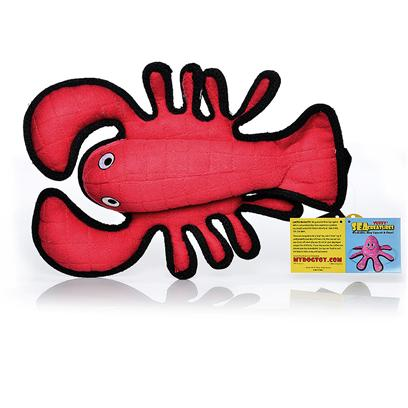 Tuffy's Presents Tuffy's Sea Creature Larry Lobster Chew Toy Tuffys. Lobster- Larry Lobster Larry Lobster is your Dogs Maine Man. Since he is a Lobster, he is Ready to Play all Day in and out of the Water. Larry Cant Wait for the Fun to Begin! Great for Interactive Play with One or Multiple Dogs. It can Even be Used in the Water. This Toy will Entertain Multiple Dogs who Like to Whip their Toys and Play Tug for Hours! -- Soft Edges Won't Hurt Gums. [23892]