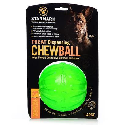 Triple Crown Presents Everlasting Fun Ball Large. Medium Dayglo Green - also Available in Large Fill the Everlasting Treat Ball with Every Flavor Treats and then Cap off the Ends with Everlasting Treats or Everlocking Treats for the Toughest Challenge Yet. [23924]