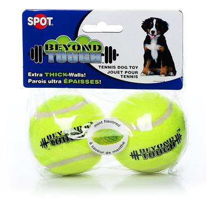 "Ethical Presents Beyond Tough Tennis Ball 2 Pack-2.5' Pack. Your Dog will Love the Extra Thick, Durable Tennis Ball. This Tennis Ball has Thicker Wall and is Made with Extra Durable Rubber. Mint Flavored. Yellow 2.5"" [23927]"