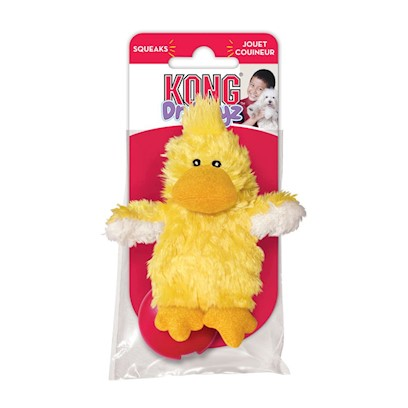 Kong Company Presents Dr Noys Plush Duckie X-Small. No Messy Filling, Inner Fleece Fabric, Easy to Replace Squeakers, Quality Nontoxic Materials. Compare Material Dog Toys with all Others and you can Easily see the Quality Difference. As a Bonus, all our Material Dog Toys Come with a Free Replaceable Squeaker. To Replace Squeaker, Simply Pull the Hidden Inner Tabs on the Outside of Toy, Remove Fleece Squeaker Pouch and Replace Squeaker. [23966]