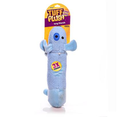 Petmate Presents Booda Tuff Long Friends-Doggie Doggie. Tuff Plush is the Softer Side of Tuff! Our Tuff Plush Toys are Made to be Three Times as Strong as Regular Plush, but we have Kep the Soft, Squeezable, Bite-Able Feel that your Pup Loves! Made with a Canvas under-Layer and Nylon Reinforced Seams, these Characters will Hold Up to the Tuff Love that your Pup Shows all of his or her Favorite Toys. Case Pk 60 [23978]