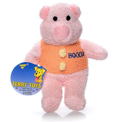 Petmate Presents Terry Cloth Pig-Medium Booda Pig Medium. You have to Squeeze them to Believe Them! Your Dog will Love them because they are Soft to Bite, yet Tough and Durable. Each Toy is Designed with it's Own Unique and Lovable Design to Make them all Irresistible. [23983]