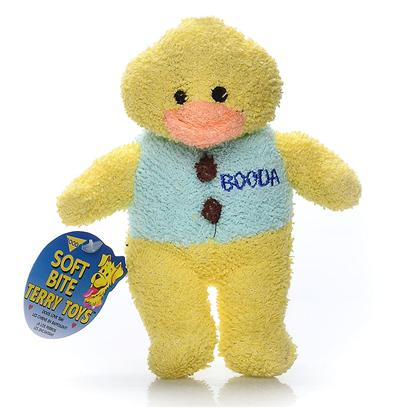 Petmate Presents Terry Cloth Duck-Medium Booda Duck Medium. You have to Squeeze them to Believe Them! Your Dog will Love them because they are Soft to Bite, yet Tough and Durable. Each Toy is Designed with it's Own Unique and Lovable Design to Make them all Irresistible. [23987]