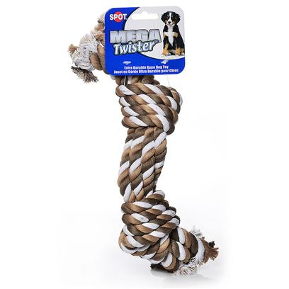 Ethical Presents Mega Twist Rope Knot 15'. Mega Twister Toys are Made Form Heavy Twisted or Braided Ropes, which Offer Extra Strenght and Durability. [24047]