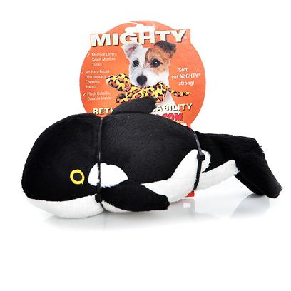 Tuffy's Presents Tuffy's Mighty Ocean Jr Whale-Wylie Tuffys Mghty Whale. Wylie Jr. - he may be a &quot;Killer&quot; Whale, but Wylie Won't Kill your Dog's Teeth! Soft and Plush, yet Sturdy and Strong Construction Makes the Perfect Playtoy for your Pooch. 7x 4x 3 [24063]