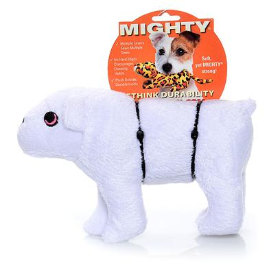 Tuffy's Presents Tuffy's Mighty Artic Jr Polar Bear-Wilburr Mcpaw Tuffys Plr Br. Wilburr Mcpaw Jr. - is a Strong and Chilly Companion that will Please any Pooch! 8x 3x4 [24071]