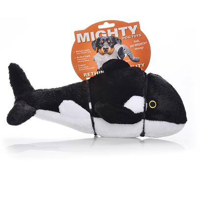 Tuffy's Presents Tuffy's Mighty Ocean Whale-Wylie Tuffys Whale. Wylie - he may be a &quot;Killer&quot; Whale, but Wylie Won't Kill your Dog's Teeth! Soft and Plush, yet Sturdy and Strong Construction Makes the Perfect Playtoy for your Pooch. 14x 8x 7 [24088]