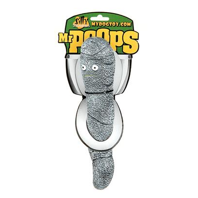 Tuffy's Presents Tuffy's Silly Squeakers-Mr Poops Chew Toy Tuffys Mr. Abandoned at Birth, Mr. Poops Could not Understand Why no One would Want Him. Alone, in the Hot Sun, he was Left to Dry out with no Hope of Survival. With Each Passing Dog he Hoped that he would not be so Dried out that no One would Recognize Him as they Sniffed Looking to Find their Own Family. Good Fortune Fell Upon Mr. Poops when a Rain Storm Washed Him into a Storm Drain where we was Able to Float his Way to a Store Near You. Please Adopt Mr. Poops and Give Him the Family he Deserves. Reunite Him with a Dog that Wants to Put Mr. Poops in their Mouth and Squeak Him with the Unconditional Love only a Dog Could Provide. [24089]