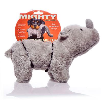 Tuffy's Presents Tuffy's Mighty Toy Safari-Rhoni Rhinoceros Chew Tuffys Rhoni. Rhoni's Impenetrable Hide will Keep your Dog Entertained through Hours of Play! Bring Him Home Today! [24107]