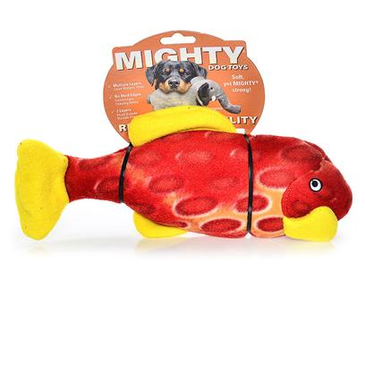Tuffy's Presents Tuffy's Mighty Toy Nature-Sammy Mcsnapper Fish Chew Tuffys Sammy. Sammy Mcsnapper is Great for Fetch in or out of the Water, this Fish Won't Snap Back. [24116]