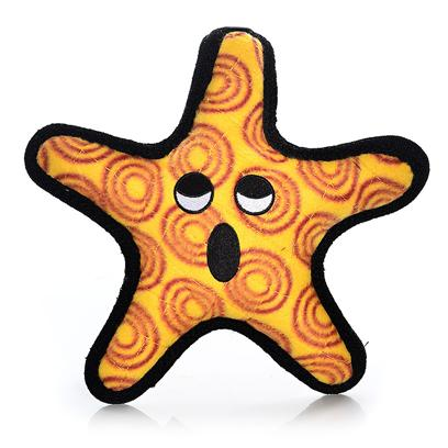 Tuffy's Presents Tuffy's Sea Creature Starfish Chew Toy Tuffys. Starfish- the General the General- Great Fun Throw it and your Dog will Love Bringing it Back. For Interactive Play with One or Multiple Dogs. It can Even be Used in the Water. This Toy will Entertain Dogs who Like to Whip their Toys and Play Fetch for Hours! Easy to Toss and Floats! -- Soft Edges Won't Hurt Gums [24122]