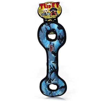 Tuffy's Presents Tuffy's Tug O War-Camo Blue Chew Toy Tuffys War. Great for Interactive Play with One or Multiple Dogs. It can Even be Used in the Water. This Toy will Entertain Multiple Dogs for Hours! -- Soft Edges Won't Hurt Gums. [24124]
