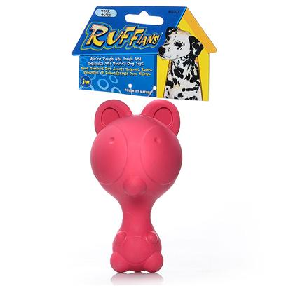 Jw Pet Company Presents Ruffians Rubber Toy Bear Jw. Squeaking Rubber Dog Toy Fit the Personality of the Dog; Hard Rubber Squeaky Toy ; Distinctive Squeak; Made for Medium Dogs; 6 Designs to Choose from the Ruffians will be the Perfect Squeaking Opponent to any Ruff and Gruff Dog. Jw Pet is Known for Exciting, Cutting Edge Design and Durability. The Ruffians are what all the Cool Dogs Want to Play with Now. Made of 100% Natural Rubber and Infused with Vanilla Extract. The Ruffians Toy is Designed so there is no Choking Hazard Posed by the Squeaker. The Entire Line of Tough by Nature Dog Toys are 100% Natural Rubber and Infused with Vanilla Extract. Every Toy is Designed to be Sensitive to the Health and Well Being of the Pet. [24138]