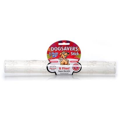 Mammoth Presents Dogsavers Stick Small 8'. Made of Super Durable Synthetic Rubber, Perfect for Chomping and Interactive Play. Packaged in 5 Assorted Flavors (Grape, Pineapple, Lime & Orange). [24152]