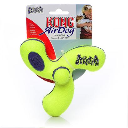 Kong Company Presents Air Kong Squeaker Spinner Medium. The Spinner is a Squeaky, Spinning Spinoff of Two Typical Dog FavoritesSqueaker Toys and Tennis Balls. Get your DogS Attention with a Few Squeaks, and Keep their Interest as they Try and Predict where the Spinner will Fly to Next. The Nonabrasive Tennis Material is Gentle on your DogS Mouth, but Retains the Quality of Tennis Ball Material. [24161]