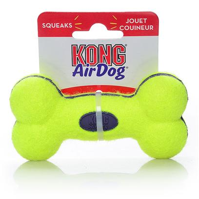 Kong Company Presents Air Kong Squeaker Bone Small Asb3. Air Squeakers Come in Six Fun, Bouncy Shapes. Special Nonabrasive Tennis Bal Fabric will not Wear Down Dog's Teeth. All Squeaker Units are Recessed in Rubber and Covered with Tennis Ball Gabric for Safety. Give them a Squeaze your Dog will Love you for It. [24166]