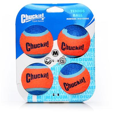Canine Hardware Presents Chuckit Tennis Ball 2.5' 4 Pack. These High Quality Tennis Balls are Designed Especially for Dogs and for Use with the Chuckit Ball Launchers. 4 Pack [24173]
