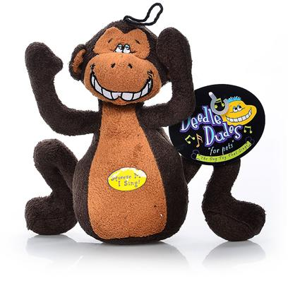 Multipet Presents Multipet Deedle Dudes Monkey 8'. This Fun Plush Monkey Sings the Deedle Dudes Theme Song. [24186]