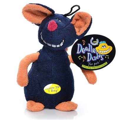 Multipet Presents Multipet Deedle Dudes Mouse 8'. This Fun Plush Mouse Sings the Deedle Dudes Theme Song. [24187]