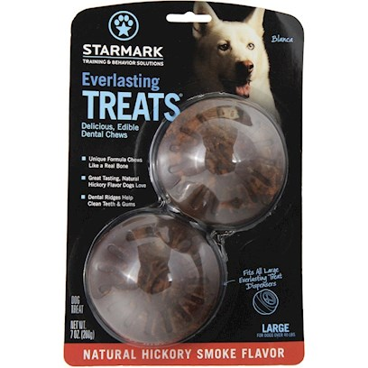 Triple Crown Presents Everlasting Treat Ball Treats-Bbq Large. Large - also Available in Small or Medium Bbq - also Available in Chicken, Liver or Vanilla/Mint can be Used Alone as a Tasty Treat or with the Everlasting Treat Ball. Made from Natural Ingredients without Plastic or Polymners. Completely Edible and Digestible with an Irresistible Taste. [24232]
