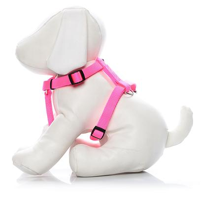Coastal Presents C Nylon Adjustable Harness-Neon Pink Medium-3/4'. Adjustable Harnesses, are Available in Four Sizes to Fit Most Dogs. Coastal's High Quality Nylon is Thick and Strong and Specially Processed to Prevent Fraying. All Nylon Products are Carefully and Neatly Finished for the Best Look and Durability. [24262]