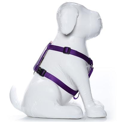 Coastal Presents Adjustable Harness-Purple Medium-3/4'. Adjustable Harnesses, are Available in Four Sizes to Fit Most Dogs. Coastal's High Quality Nylon is Thick and Strong and Specially Processed to Prevent Fraying. All Nylon Products are Carefully and Neatly Finished for the Best Look and Durability. [24267]