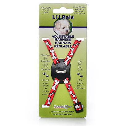 Coastal Presents Li'l Pals Adjustable Harness 5/16' Rainbow. Coastal's Li'l Pals Line of Petite Pet Products are Designed Specifically for Puppies and Toy Breeds. Adjustable Collars, Harnesses and Matching Leads are Soft, Comfortable and Stylish. Glitzy, Jewel Collars will Make any Mini Tail-Wagger the Talk of the Town. Smaller Sizes and an Extra Narrow Width Provide just the Right Fit for Pint-Sized Pooches. Little Pups are Special and Li'l Pals are Made Especially for Them. [24272]