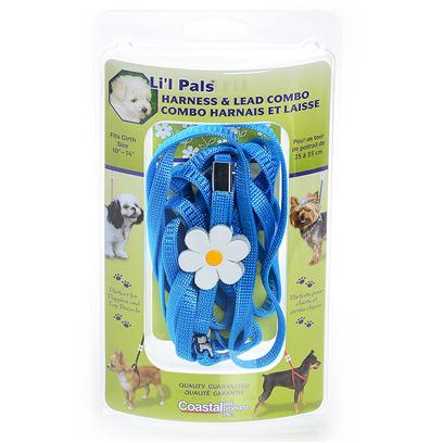 Coastal Presents Li'l Pals Harness &Amp Lead Combo Light Blue-5/16'. Coastal's Li'l Pals Line of Petite Pet Products are Designed Specifically for Puppies and Toy Breeds. Adjustable Collars, Harnesses and Matching Leads are Soft, Comfortable and Stylish. Glitzy, Jewel Collars will Make any Mini Tail-Wagger the Talk of the Town. Smaller Sizes and an Extra Narrow Width Provide just the Right Fit for Pint-Sized Pooches. Little Pups are Special and Li'l Pals are Made Especially for Them. [24275]