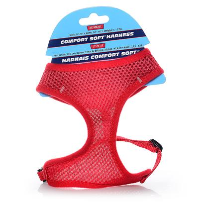 Coastal Presents Comfort Soft Adjustable Mesh Harness 3/8' Red. Comfortable, Soft Mesh Walking Harness. Specifically Designed for Toy Breeds & Small Dogs. Mesh Material Distributes Leash Pressure Across Neck and Shoulders. Adjusts for a Perfect Fit. Lightweight & Fashionable with Breathable Mesh. [24282]