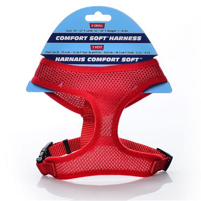 Coastal Presents X-Small Comfort Soft Harness-5/8' Red. Comfortable, Soft Mesh Walking Harness. Specifically Designed for Toy Breeds &amp; Small Dogs. Mesh Material Distributes Leash Pressure Across Neck and Shoulders. Adjusts for a Perfect Fit. Lightweight &amp; Fashionable with Breathable Mesh. [24285]