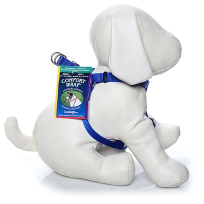 Coastal Presents Small Comfort Wrap Adjustable Harness-5/8' Blue. For Comfort and Convenience, the Comfort Wrap Harness is a Perfect Choice. Adjustable Slides in Three Locations Allow you to Fit your Dog Perfectly. The Snap-Lock Buckle and Simple Design of this Harness Make Placing it on your Dog Quick and Easy. Two Metal D-Rings, which Attach to the Leash, Make Comfort Wrap One of the Strongest and Safest Adjustable Harnesses Available. [24305]