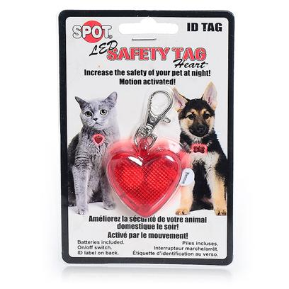 Ethical Presents Spotbrights Safe-T-Tag Heart Shape Led Id Tag Spot Sp/Brite Safe. Increase the Safety of your Pet at Night, on and off Switch, Ultra Bright Led's, Motion Activated, Water Resistant, Batteries Included. Id Label on Back [24398]