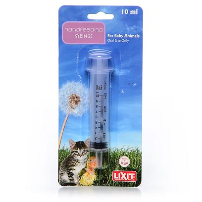 Lixit Presents Hand Feeding Syringe 60cc. Hand Feeding Syringe for Birds, Reptiles &amp; Babies Safe and Easy to Use for Administering Formula, Food and Medicine Pharmaceutical Grade Syringe W/Plunger Seal Hold Up to 60 Cc of Food or Medicine [24450]
