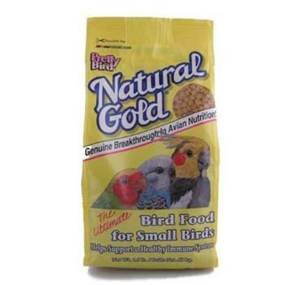 Pretty Bird International Presents Natural Gold Pellets-30lb Small. This Innovative New Product Contains Nucleotides which can Improve your Bird's Immune System. Manufactured with 15% Protein and 8% Fat in a Small Morsel. In a Natural Color with no Artificial Colors. Medium Pellets. 30lbs. 30 Lb [24454]
