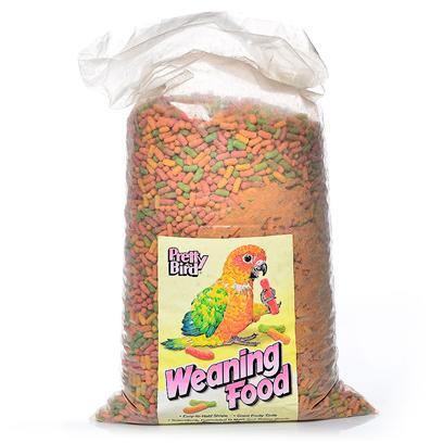 Pretty Bird International Presents Weaning Food 5lb Pb 2lb. This Product has the Same Nutrition as the Breeder Food but is Extruded in a Corn Curl Shape that is Easier for Young Birds to Hold while they are Learning to Eat. The Morsel Size is More Suited to Medium and Large Hookbills. Weaning can be Fed Either Dry or Moistened. Packaged in 5 Lb. Bags Manufactured 6 Per Case [24457]