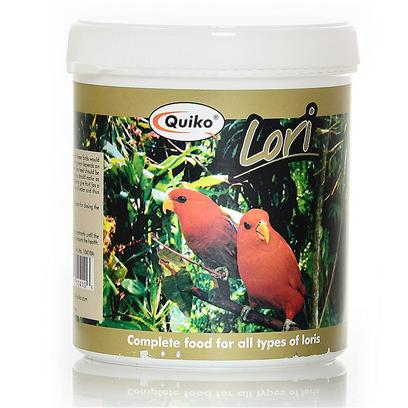 Sun Seed Company Presents Quiko Lori Food 12.37oz Sun. Quiko Lori Food is a Water Soluble Diet in a Powder Form. It is Suitable for all Lories, Lorikeets, Hanging Parrots, Fig Parrots and Other Nectar Eating Birds. Once Mixed with Water, this Food is Similar to the Diet these Birds would Seek out in Nature. [24464]