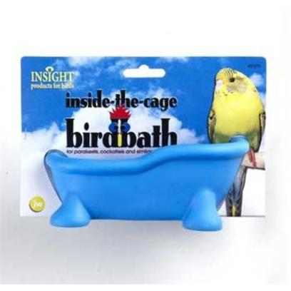 Jw Pet Company Presents Jw Pet Company (Jw) Bird Toy in Cage Bath. A Colorful Tub with Feet that your Bird can Climb in Kick Back and Splish Splash! This Small Bath Tub Fit's Right Inside your Birds Cage, Easy to Use and Fun and Healthy for your Bird. [24472]