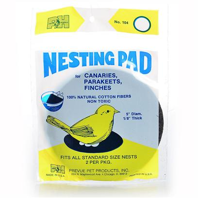 Prevue Presents Bird Nesting Pad 5' (2pk) - 2 Pack. Felt Nesting Pads Fit Most Nests and are Great for Canaries, Finches and Parakeets. [24548]