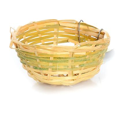 "Prevue Presents Canary Bamboo Nest. 3"" Diameter Twig Nest for Finches or Canaries. Provides your Birds with a Natural Environment for Breeding Purposes. Created with Safe all Natural Fibers to Make your Bird Feel at Home. [24549]"