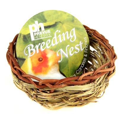 "Prevue Presents Canary Twig Nest. 3"" Diameter Twig Nest for Finches or Canaries. Provides your Birds with a Natural Environment for Breeding Purposes. Created with Safe all Natural Fibers to Make your Bird Feel at Home. [24550]"