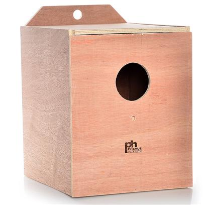 Prevue Presents Cockatiel Nest Wood Box (Inside Mount). Solid Hardwood Nest Boxes with Indented Bottom Center to Prevent Egg Rolling. Top Opening for Easy Cleaning. 9&quot; X 10 5/8&quot; X 11&quot;H [24551]